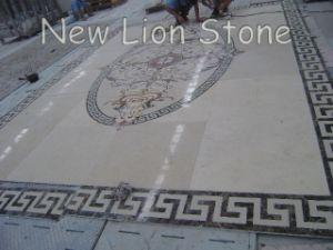 Water Jet Natural Stone Floor Medallions, Floor Tile Borders, Custom Floor Inlays