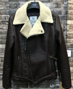 Stylelish Fashion Man PU Jacket with Fur Linning pictures & photos