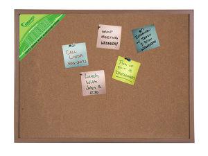 Double Side Cork Board/Notice Board/Pin Board/Meno Board/ with Wooden Frame