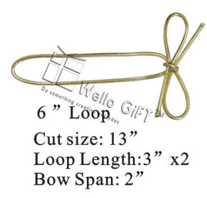 Cheap Gold Metallic Elastic Loop Strech Loop pictures & photos