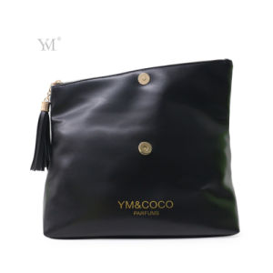 Best Selling Fashion Custom Logo Foldable Black Cluch Bag pictures & photos