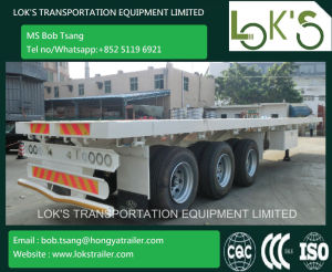 40 Feet Tri Axle Flatbed Truck Trailer pictures & photos