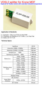 VDSL2 Splitter for Krone MDF With Extended Industrial Temperature (CLSP-008J39) pictures & photos