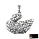 Swan Shape Jewelry USB Flash Drive with Necklace