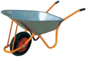 Yard Garden Trolley Hand Wheelbarrow with 16inch Rubber Wheel Wb6404h pictures & photos