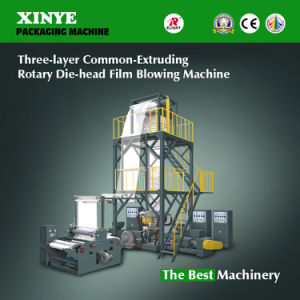 Three-Layer Common-Extruding Rotary Die-Head Film Blowing Machine pictures & photos