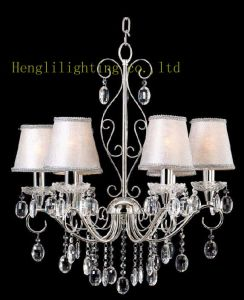 Cloth Shade Chandelier (HLH-22060-6) pictures & photos