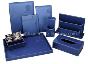 Luxury and Convenient Leatherette Bill Folder (Sky blue series) pictures & photos