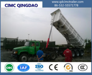 Cimc Three Axle Tipper Semi Trailer with Hydraulic Cylinder Truck Chassis pictures & photos