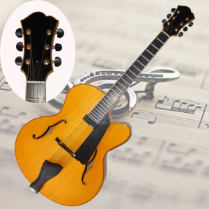 17inch Handmade Jazz Guitar in Yellow Color with Side Sound Hole (YZ-20Y)