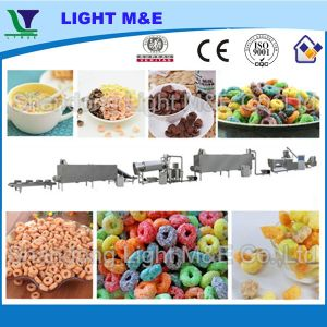 Automatic Puffed Snack Extrusion Breakfast Cereal Making Machine pictures & photos