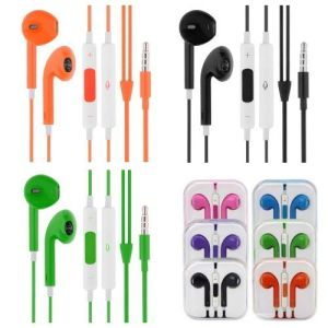 Colorful 3.5mm Earbuds Headphones with Remote and Mic pictures & photos