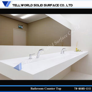 Long Wash Basin with Solid Surface Counter Top pictures & photos