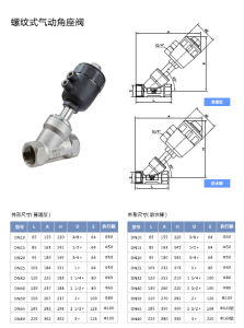 Thread Type Pneumatic Angle Seat Valves pictures & photos