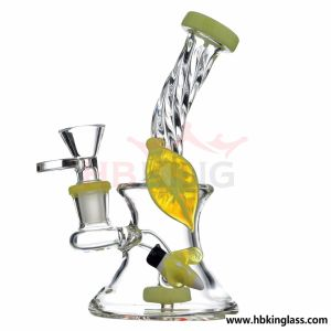 22 Inch Double Recyclers Detached Glass Water Pipe with Are-Tree Perc pictures & photos
