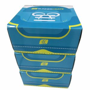 Corrugated Paper Clear Shoe Box with Custom Printing pictures & photos