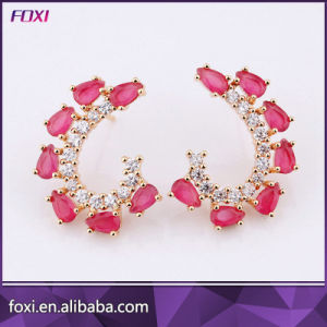 Wholesale Stylish Women Stud Earring Jewelry CZ Gemstone Earring pictures & photos