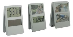 Solar Power Digital Table Clip Clock with Photo Frame pictures & photos