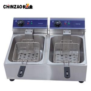 Hot Sale 20L Double Tank Electric Deep Fryer (DZL-20B) pictures & photos