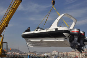 Liya 7.5m Large Hypalon Rigid Inflatable Boat Builders pictures & photos