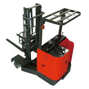 1.5ton Electric Reach Forklift for Narrow Aisle pictures & photos