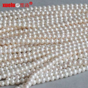 9-10mm Round Fresh Water Pearl Necklace Material Wholesale Supplier (E180015) pictures & photos