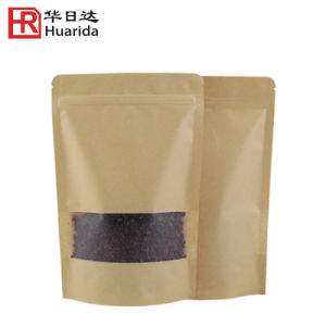 Stand up Kraft Paper Bag with Window and Zip Lock pictures & photos