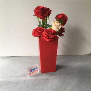 Wholesale Red Color Acrylic Flower Packaging Vase pictures & photos