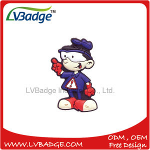 Custom Silicone Rubber Cartoon Soft PVC Badge pictures & photos