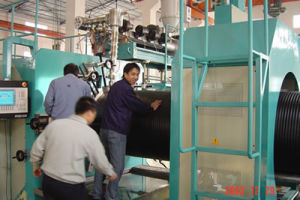 HDPE Spiral Hollow Wall Pipe Extrusion Line pictures & photos