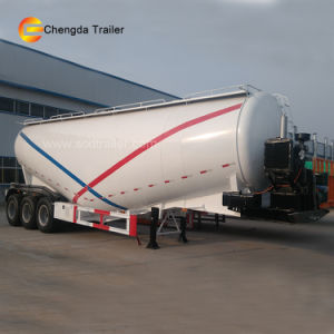 3axles 60t Engine Compressor Powder Bulk Cement Tank Semi Trailer pictures & photos