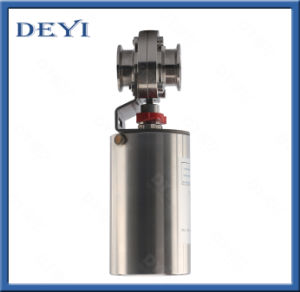 """2"""" Stainless Steel Food Grade Air Drive Butterfly Valve pictures & photos"""