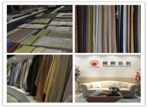 300GSM Piece Dye Linen Sofa Fabric by Grey Color pictures & photos