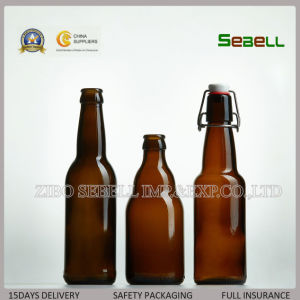 330ml Amber Glass Beer Bottle with Crown Top (NA-029) pictures & photos