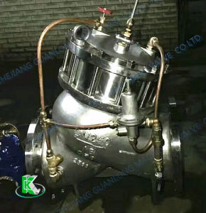 (Yx741X) Stainless Steel Globe Piston Double Chamber Pressure Reducing Valve pictures & photos