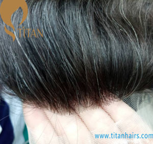 100% Remy Human Hair Wig for Man with Thin Skin