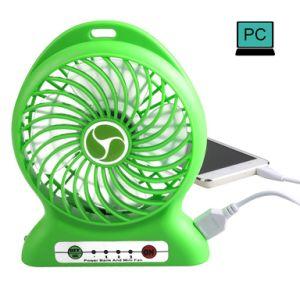 USB Mini Fan Portable Electric Fans LED Portable Rechargeable Desktop Fan Cooling Air Conditioner Portable Fan with a Battery pictures & photos
