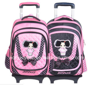 Wheeled Trolley Waterproof Children Kids School Student Backpack Bag (CY3522) pictures & photos