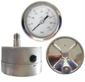 Safety All Stainless 50mm Steel Pressure Gauges pictures & photos