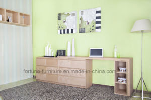 Wooden Stretchable Office Desk with Bookcase N704b-St pictures & photos