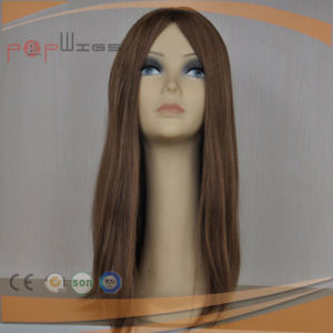 Beautiful Human Brown Color Hair Jewish Wig pictures & photos