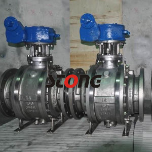 API 3PCS Stainless Steel Trunnion Mounted Ball Valve of CF8m pictures & photos