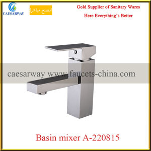 Bathroom Deck Mounted Square Wash Basin Faucet pictures & photos