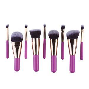 9 Pieces Antibacterial Soft Fiber Hair Makeup Tools Pretty Makeup Brushes pictures & photos