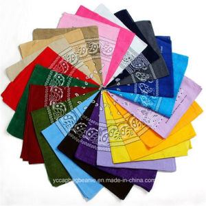 Hot Sale Multi Colors Paisley Printed Wholesale Cotton Bandanas pictures & photos