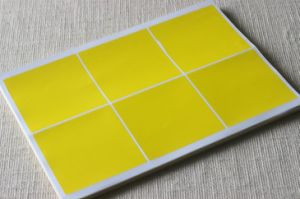 Adhesive 6 Labels in A4 Sheet, Waterproof A4 Sheet Label Stickers, Self Adhesive Sticker Paper, Laser Printing Label Sheet