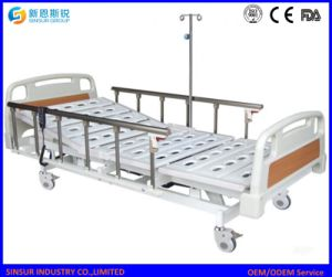 Electric 3crank Hospital Bed with Aluminum Alloy Guardrail pictures & photos