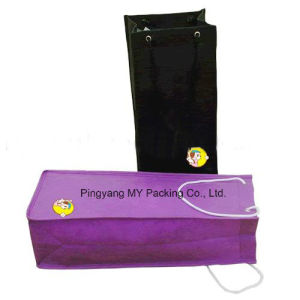 Cheap Promotion Shopping Fold Wine Drawstring Bag pictures & photos