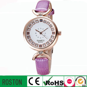 Leather Strap and Alloy Case Lady Gift Diamond Watch pictures & photos