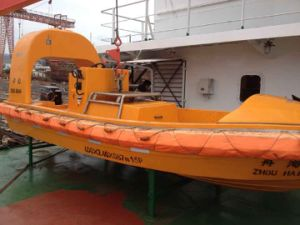 Iacs Marine Outboard Engine FRP Rescue Boat / Rescue Boat Davit pictures & photos